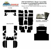 1965 - 1968 Mopar Dodge And Plymouth C Body Convertible Complete Insulation Kit