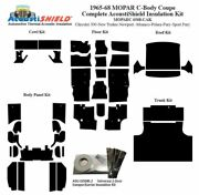 1965 - 1968 Mopar Dodge And Plymouth C Body Coupe Complete Acoustic Insulation Kit
