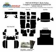 1965 - 1968 Mopar Dodge And Plymouth C Body Sedan Complete Acoustic Insulation Kit
