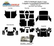 1970 - 1974 Mopar Dodge And Plymouth E Body Coupe Complete Acoustic Insulation Kit