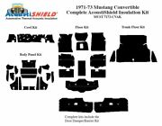 1971 - 1973 Ford Mustang Convertible Complete Acoustic Insulation Kit