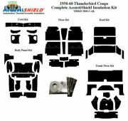 1958 - 1960 Ford Thunderbird Coupe Complete Acoustic Insulation Kit