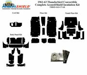 1961 - 1963 Ford Thunderbird Convertible Complete Acoustic Insulation Kit