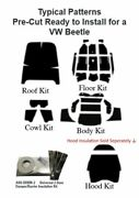 1958 - 1977 Volkswagen Beetle Coupe Complete Acoustic Insulation Kit