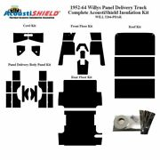 1952 - 1964 Willys Panel Truck Complete Acoustic Insulation Kit