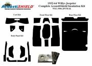 1952 - 1964 Willys Jeepster Complete Acoustic Insulation Kit