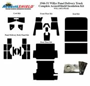 1946 - 1951 Willys Panel Truck Complete Acoustic Insulation Kit