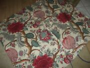 Lorenzo Rubelli Vintage Floral Lined Baikal Drapes Valances And Fabric 12 Pieces