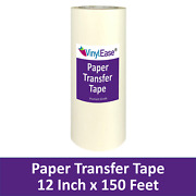 12 In X 150 Ft Roll Sign Craft Vinyl Paper Application Transfer Tape V0844a