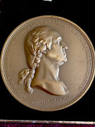 Antique High Relief Bronze Medal Of George Washington