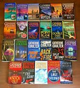 Lot 23 Catherine Coulter Fbi Thrillers Softcovers 1-16 18 20 21 + 4 Britin Fbi