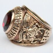 1962 Fairleigh Dickenson University 10k Yellow Gold Red Class Ring 28g Size 9