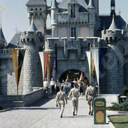 Sl08 Slide 1950and039s Red Kodachrome Disneyland Soldiers Princess Castle 750a