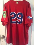 Adrian Beltre Game Used Jersey 2017 Wbc Dominican Republic Authentic Mlb Holo Gu