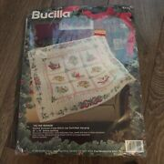Bucilla Stamped Cross Stitch Tis The Season Lap Quilt Wall Hanging Holiday