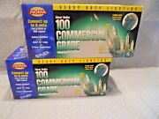 Noma 100 Count White String Commercial Grade Christmas Lights Lot Of 2