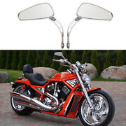 For Harley Davidson V-rod Night Rod Fatboy Motorcycle Rear View Mirrors Chrome