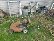Vintage Sears Push Mower Old Engine See Pics Untested Parts Or Restore