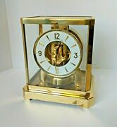 Vintage 1960and039s Swiss Jaeger Lecoultre Atmos Perpetual 15 Jewel Clock 220434