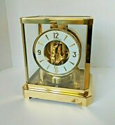 Jaeger-lecoultre Atmos 15 Jewels Perpetual Motion Clock Sn 220434 Swiss Vintage