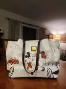 Cafe Pouchette Mickey And Minnie Leather Bag - Dooney And Bourke