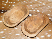 Lot Of 50 Carved Wooden Dough Bowl Primitive Wood Trencher Home Decor 8-10