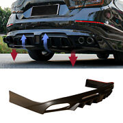 Unfinished For Honda Accord 2018-2020 Rear Bumper Spoiler Diffuser With Lights