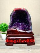 35 Cm Natural Amethyst Crystal Lucky Feng Shui Specimen Energy Heal Statue F203