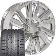 Cp 22 Wheels And Tires Fit Chevy Gm Cadillac High Country Chrome Gy