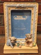 Vintage Adorable Schmid 1992 Kitty Cucumber Ceramic Baby Picture Frame