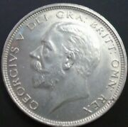 1927 George V Bare Head Coinage Half 1/2 Crown Spink 4032 Crowned Shield A1