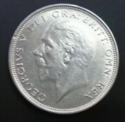 1927 George V Bare Head Coinage Half 1/2 Crown Spink 4032 Crowned Shield A3