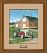 Little Earl's Big 8n - Tractor Framed Limited Edition Print By Neal Anderson