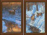 Reflections And Shadows Of Bowhunting Framed Limited Edition Canvas By Michael Sie