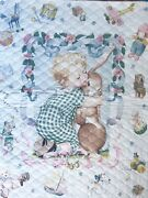 Pre-quilted Cotton Fabric Daisy Kingdom 1997 Toy Treasures Quilt Panel 35x44