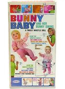 Vintage 1969 Remco Bunny Baby Tricky Whistle Doll Mint In Unused Box Mib Nos