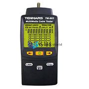 Tenmars Tm-903 Multimedia Lan Cable Tester Connectors Rj-45 F-connector And Rj