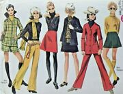1969 Simplicity Sewing Pattern 8409 Teen Girls Separates Sz 11/12 32 Bust 8409f