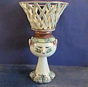 Very Large Woman With A Basket Designed By Bjorn Wiinblad Signed And Dated 1973