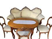 Antique Living Room Suite Sofa Chairs And A Coffee Table