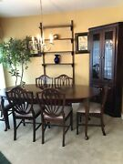 Dining Room Set 6 Chairs Table And Corner China Cabinet