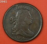 1806 Draped Bust Half Cent Vf/xf Rev Scratches