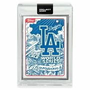 La Dodgers 2020 Topps Project X World Series Mister Cartoon Champs Ap /58 Silver