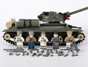 Ww2 683 Pcs Tank Army Military And 5 Pcs Minifigures Soldiers Lego And Weapons Moc