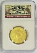 2014 W Gold Spouse 10 Florence Harding 1/2 Oz 1,944 Minted Ngc Ms 70 Er