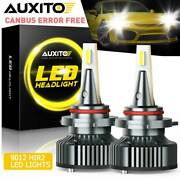 Fit For Ford Edge 2011-2014 Led 9012 Hir2 Headlight Bulbs Hi Low Beam Canbus Kit