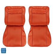 1962 Impala Ss Front Bucket Rear Bench Seat Covers Bright Red Set 98