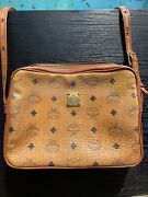 Authentic Vintage Mcm 1980s Hand Made In Germany Leather Purse Shoulder Handbag
