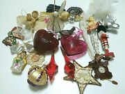 Christmas Xmas Decorations Junk Drawer Lot Holiday Ornaments Vintage Home