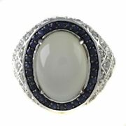 Hsn Victoria Wieck Moonstone And Multigemstone Sterling Silver Statement Ring 6